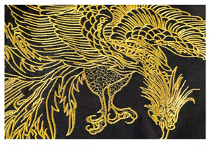 Golden Phoenix Embroidered T-shirt - Kimura Fox