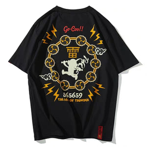 God of Thunder Goku Print T-Shirt - Kimura Fox