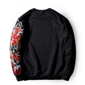 - Dragon Tattoo Embroidery Sweatshirt - KimuraFox
