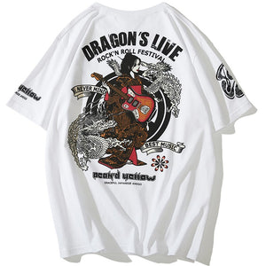 t-shirt - Dragon & Rock n Roll Geisha T-Shirt - KimuraFox
