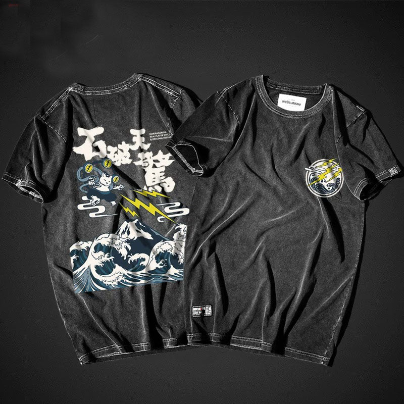 t-shirt - Neko Thunder God T-Shirt - KimuraFox
