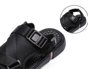 Black Beach Slide Sandals - Kimura Fox
