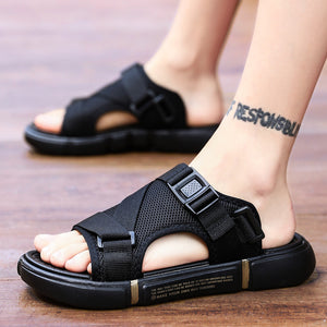 - Black Beach Slide Sandals - KimuraFox