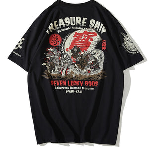 t-shirt - Seven Lucky Gods Treasure Ship T-Shirt - KimuraFox