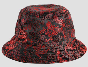 Red Dragon Embroidered Bucket Hat