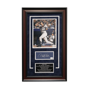 "Derek Jeter New York Yankees Autographed ""2000 WS MVP"" 16x 26 Framed Chit Collage - L/E of  6 (JSA)"