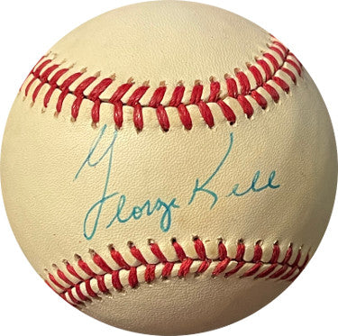 George Kell signed ROAL Rawlings Official American League Baseball tone spots (Detroit Tigers)