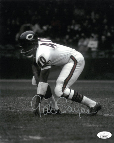 Gale Sayers signed Chicago Bears 8x10 Photo- JSA