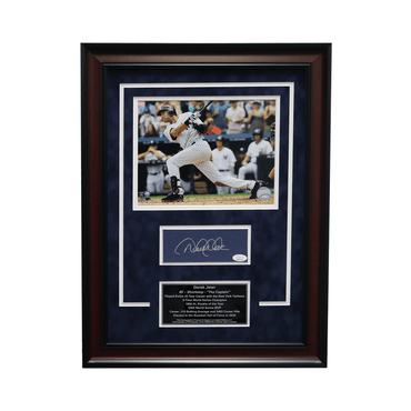 "Derek Jeter New York Yankees Autographed ""3000th Hit"" 18x24 Framed Chit Collage - L/E of 7 (JSA)"
