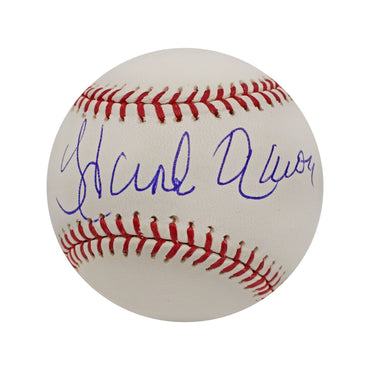 Hank Aaron Milwaukee/Atlanta Braves Autographed MLB Baseball (In Blue Ink)