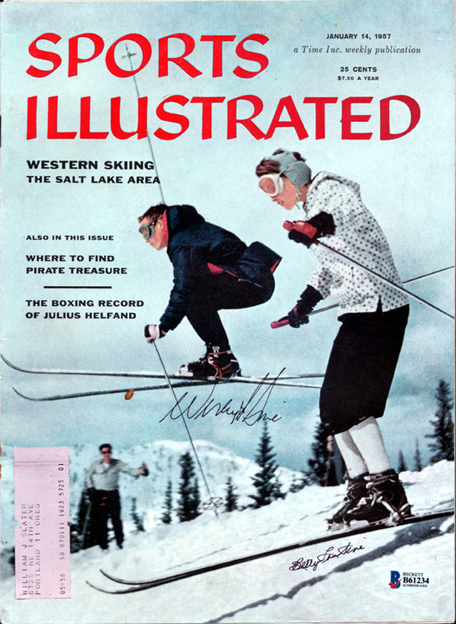 Wes & Betty Lou Sine Autographed Sports Illustrated Magazine Beckett BAS #B61234