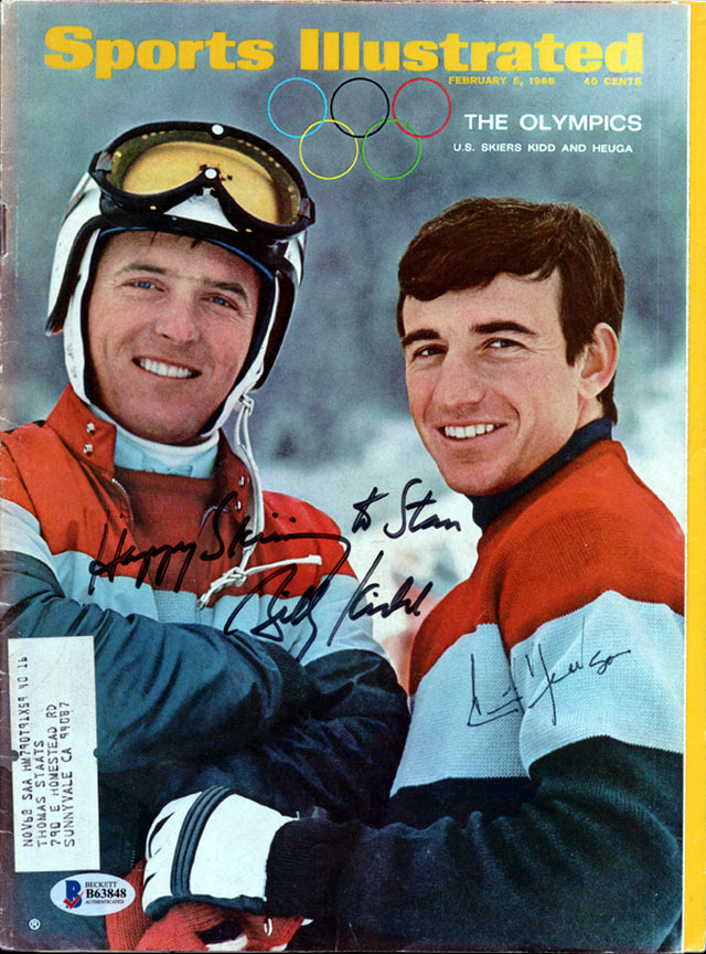 Billy Kidd & Jimmy Huega Autographed Sports Illustrated Magazine