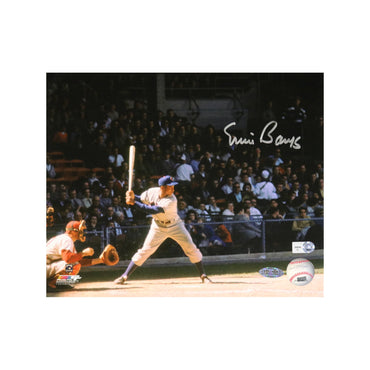 Ernie Banks Chicago Cubs Autographed Chicago Cubs Batting 8x10 Photo