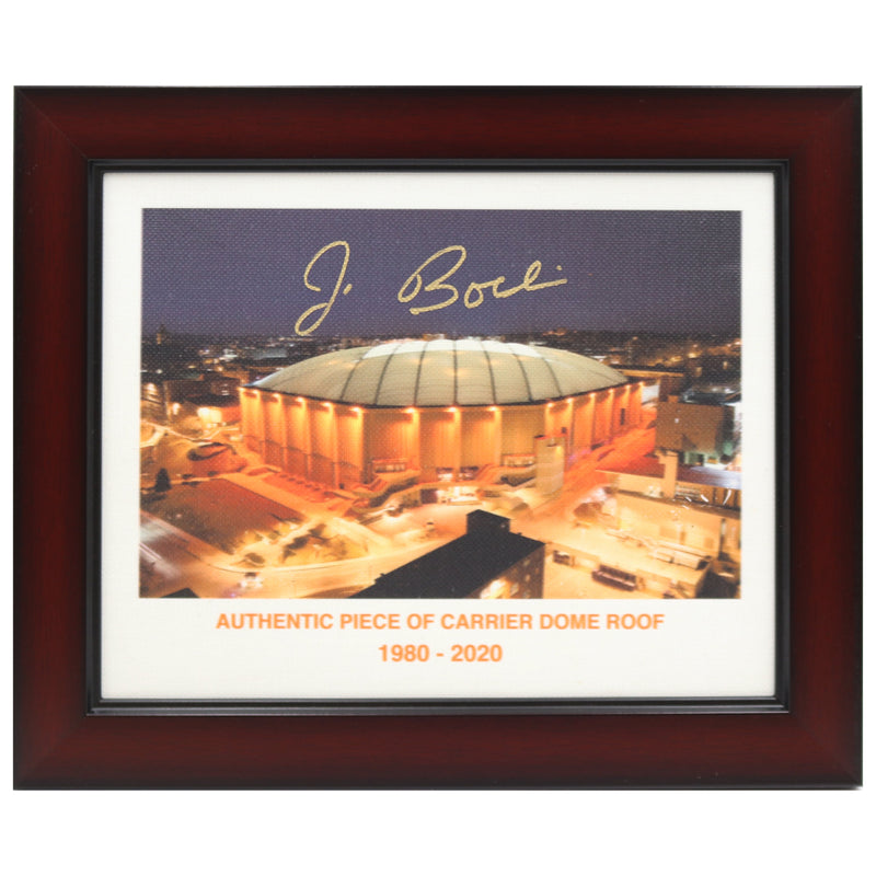 Jim Boeheim Autographed Syracuse University Authentic 11x14 Night Time Photo of Dome Printed on Authentic Dome Roof