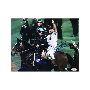 Wade Boggs New York Yankees Autographed 1996 World Series Horse Ride 8x10 Photograph (Steiner Hologram Only)
