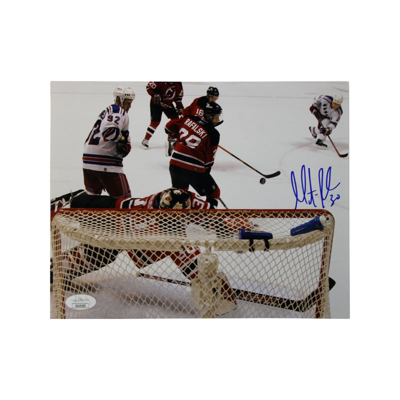 Martin Brodeur New Jersey Devils Autographed Diving Save vs Rangers 8x10 Photograph (JSA Authenticated)