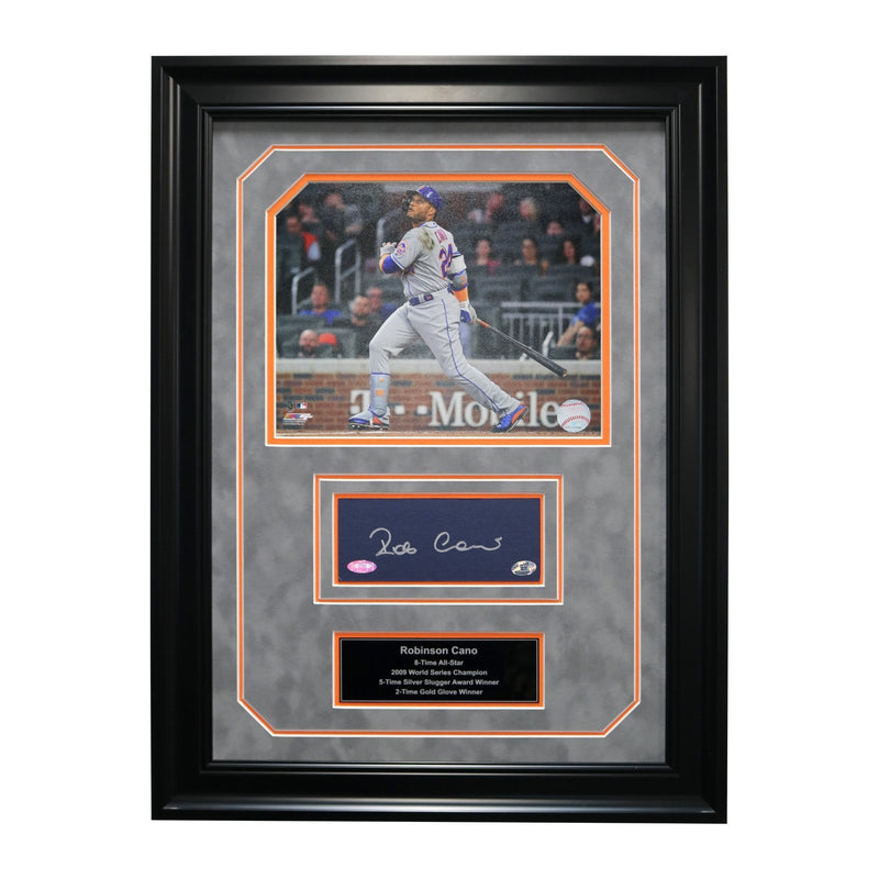 Robinson Cano New York Mets Autographed and Framed New York Mets Chit Collage - 17