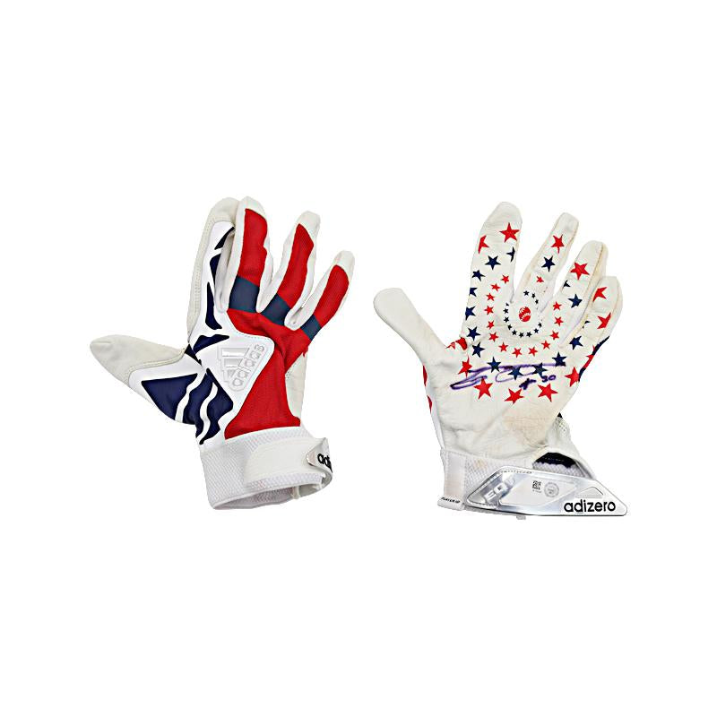Carlos Gomez Mets, Brewers, Rangers, Houston Autographed Pair of Game Used Stars and Stripes Batting Gloves