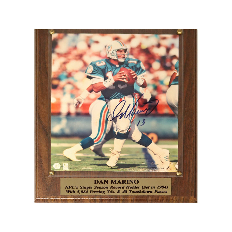 Dan Marino Miami Dolphins Autographed 8X10 Photo Plaque Stack of Plaques Auth