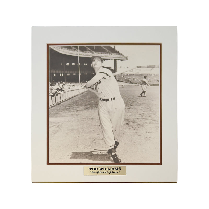 Ted Williams Boston Red Sox Matted Photo