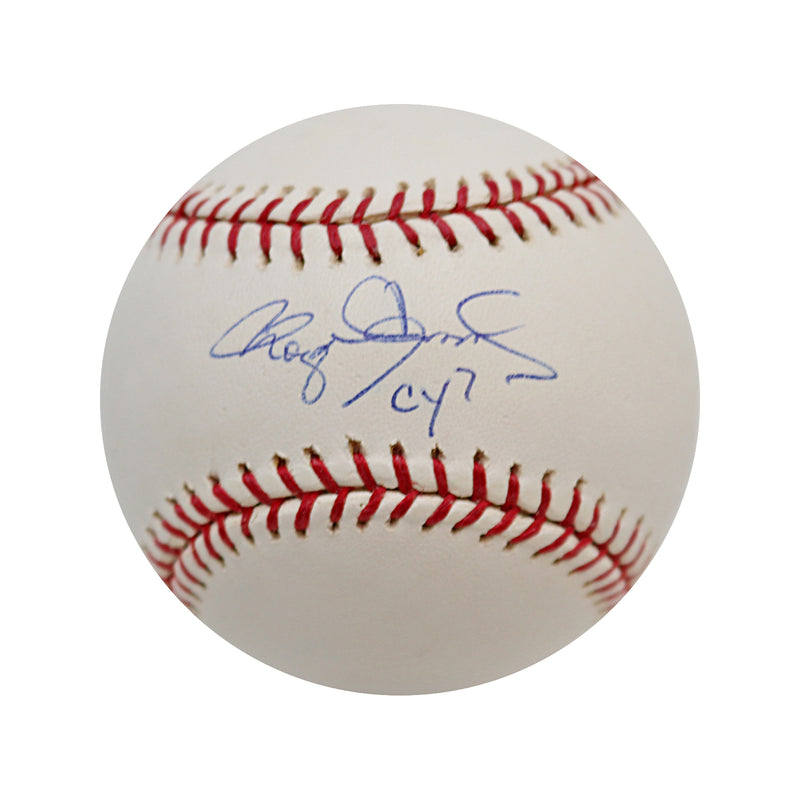Roger Clemens New York Yankees Autographed And Inscribed CY7 Baseball Steiner
