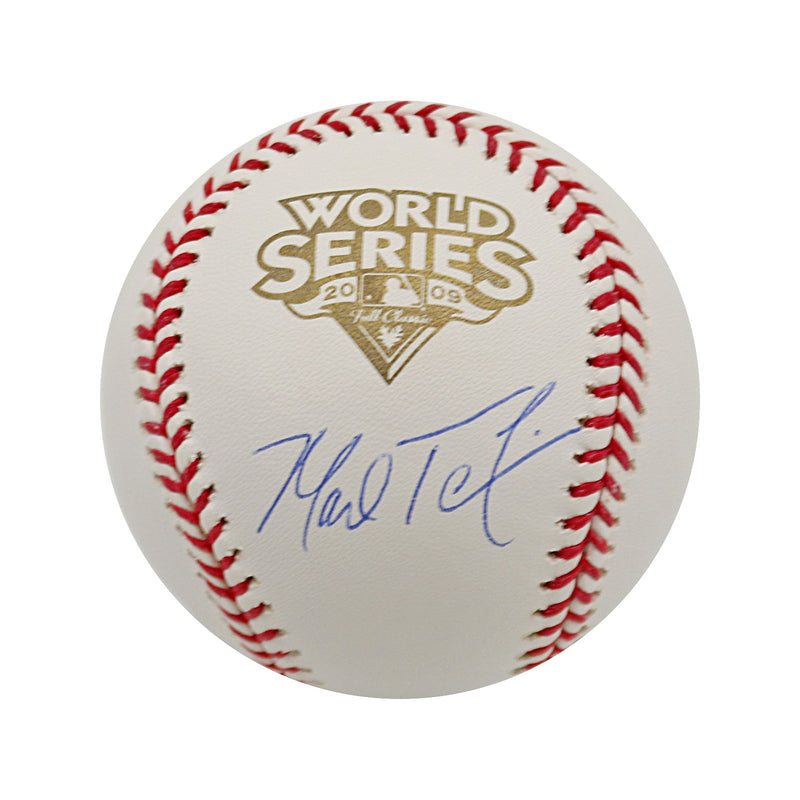 Mark Teixeira New York Yankees Autographed 2009 WS Baseball Steiner