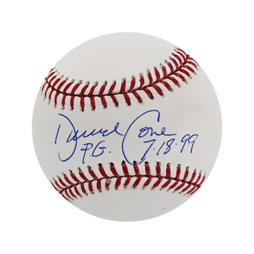 David Cone New York Yankees Autographed MLB Baseball with PG 7/18/99 Inscription (JSA Authentication)