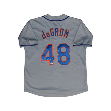Jacob deGrom New York Mets Autographed Replica Road Grey Jersey (Beckett Hologram Only)