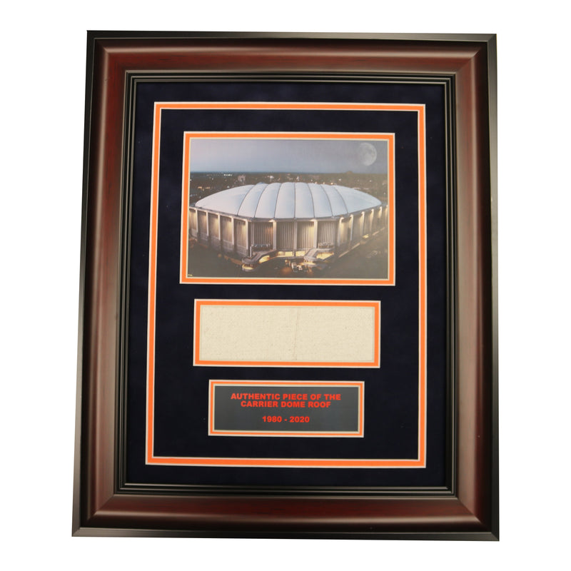 Syracuse University Dome Exterior Photo Framed Collage with Authentic Carrier Dome Roof