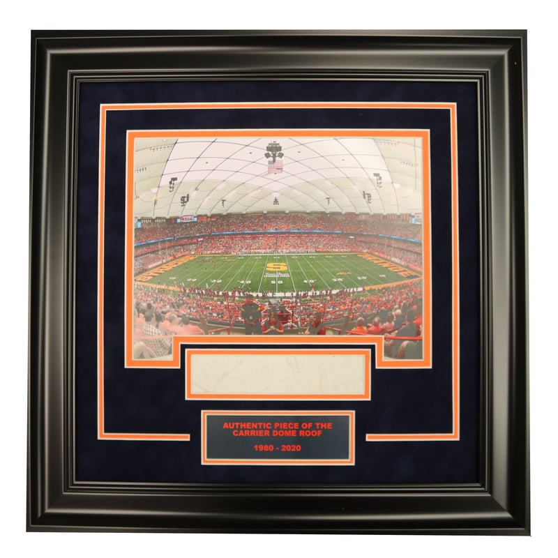 Syracuse University Football Game Photo Framed Collage with Authentic Carrier Dome Roof