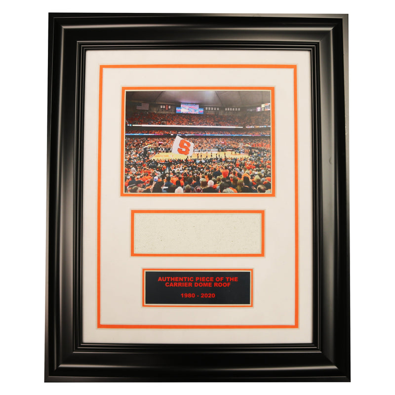 Syracuse University Basketball Game Photo Framed Collage with Authentic Carrier Dome Roof
