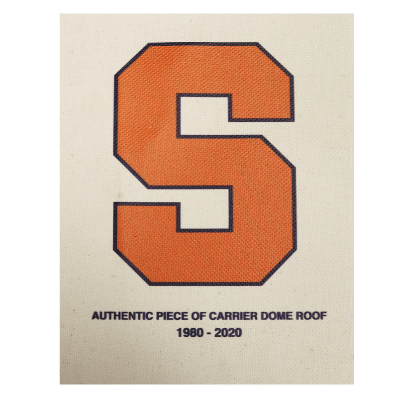Syracuse University Authentic 11x 14 Piece of Carrier Dome Roof with Orange S Logo Imprinted
