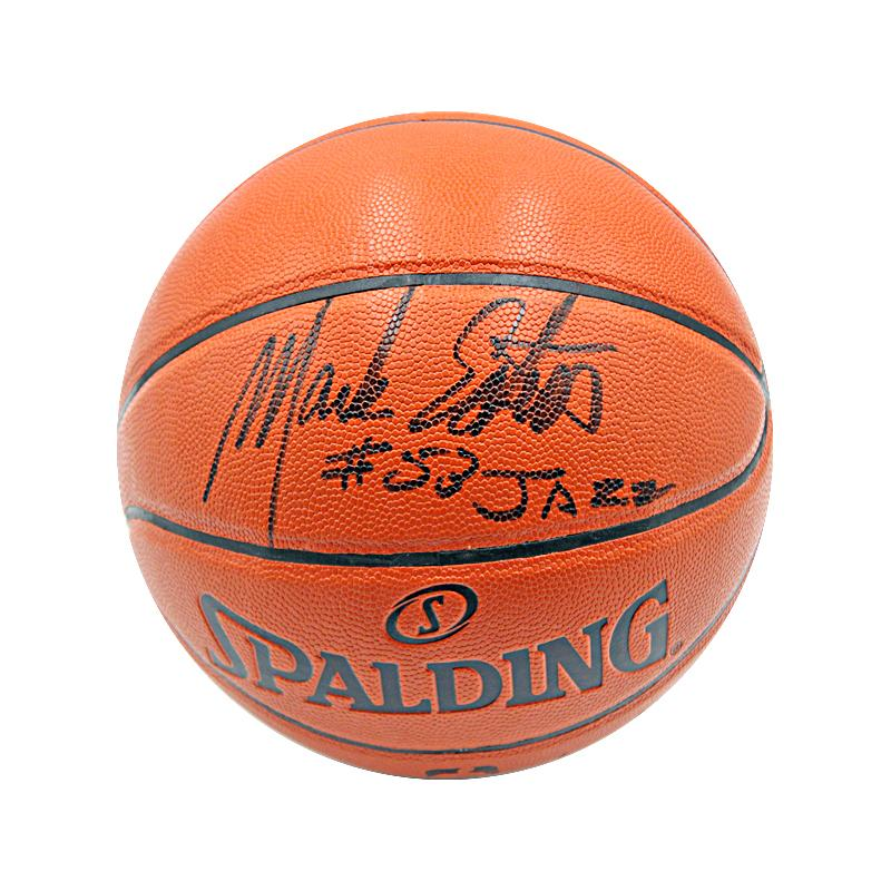 Mark Eaton Utah Jazz Autographed and Inscribed NBA Replica Basketball (Steiner Hologram)