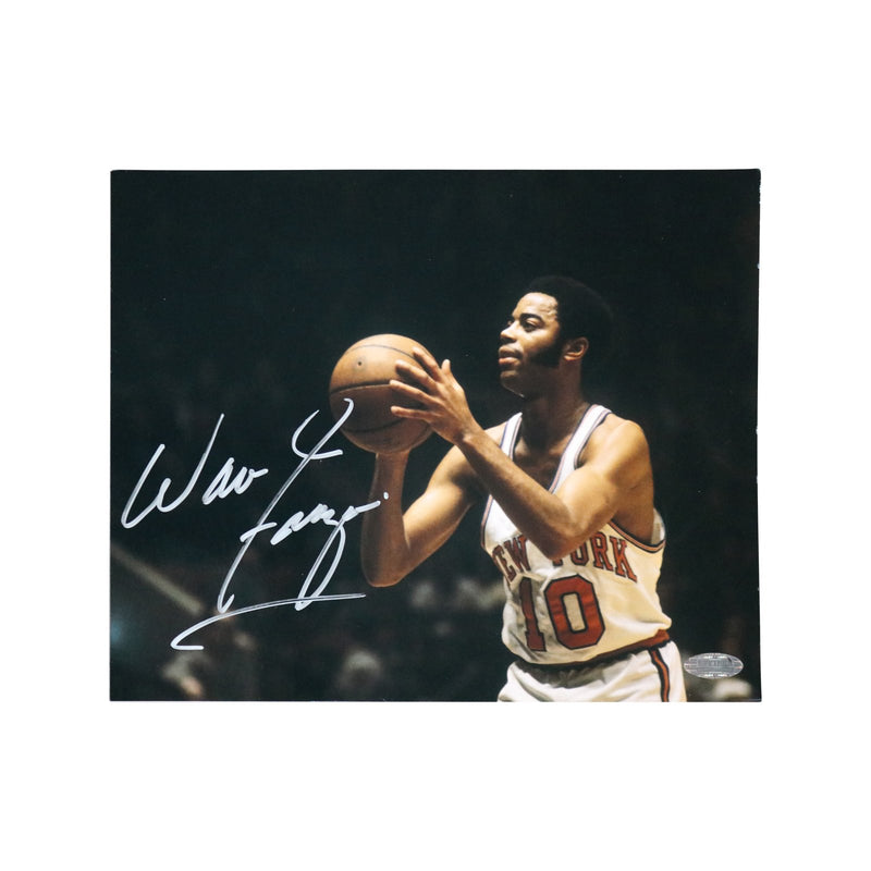 Walt Frazier New York Knicks Autographed Free Throw 8x10 Photograph (Steiner Hologram Only)