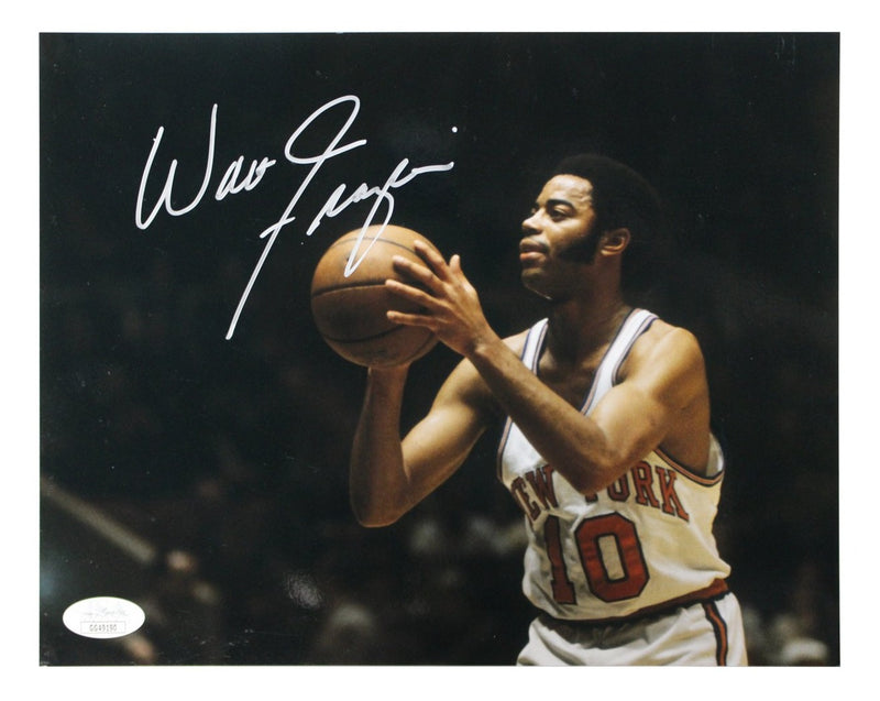 Walt Frazier New York Knicks Autographed Free Throw 8x10 Photograph (JSA Authenticated)