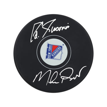 Eddie Giacomin/Mike Richter New York Rangers Dual Autographed New York Rangers Puck