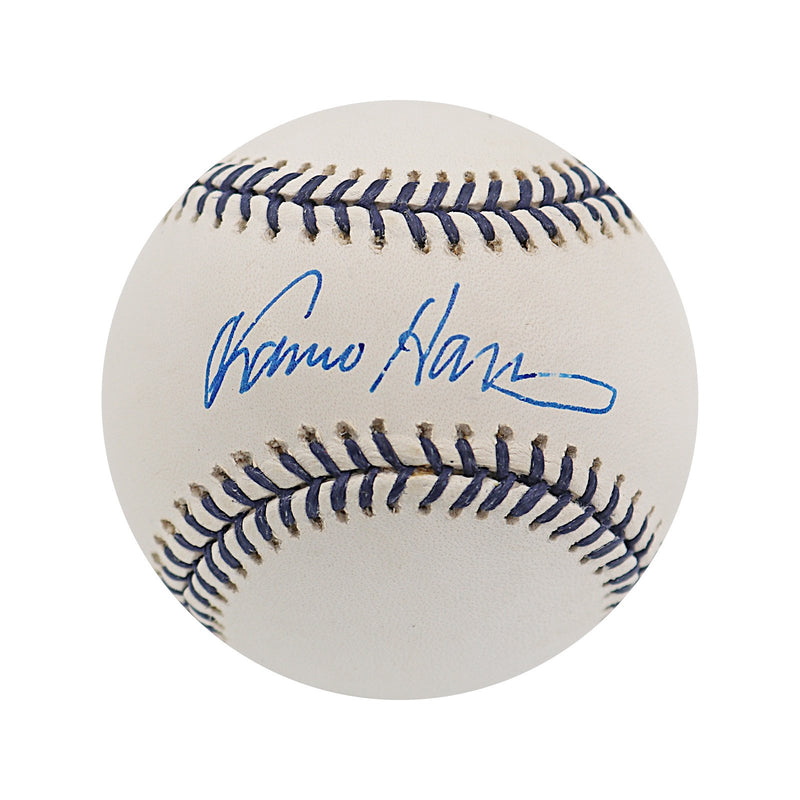 Franco Harris Pittsburg Pirates Autographed Steiner Rawlings Holiday Baseball (Steiner Hologram Only)