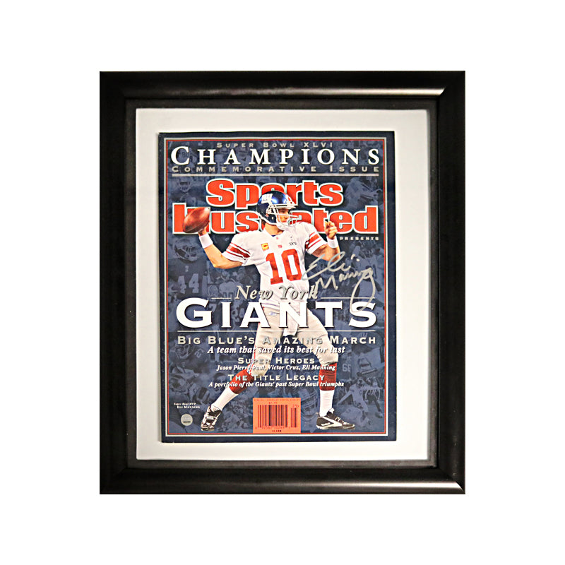 Eli Manning New York Giants Autographed Framed Magazine Cover (Steiner)