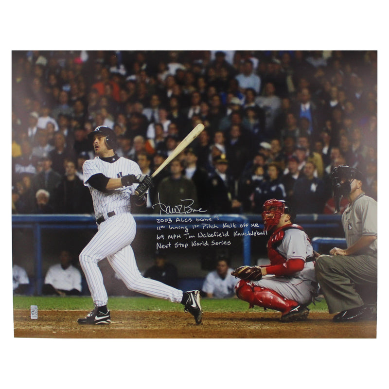 Aaron Boone New York Yankees Autographed and