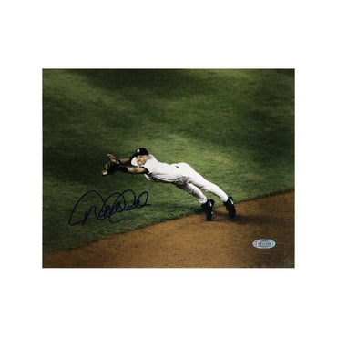 Derek Jeter New York Yankees Autographed New York Yankees Dive in Hole 8x10 Photo