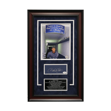 "Derek Jeter New York Yankees Autographed ""1999 WS"" 16x26 Framed Chit Collage - L/E of  6 (JSA)"