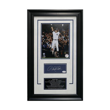 "Derek Jeter New York Yankees Autographed ""Final Stadium Game Walk Off"" 16x26 Framed Chit Collage - L/E of  7 (JSA)"