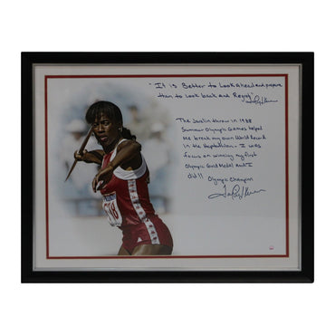 Jackie Joyner Kersee First Gold Medal Story Autographed 16x20 Framed Photo