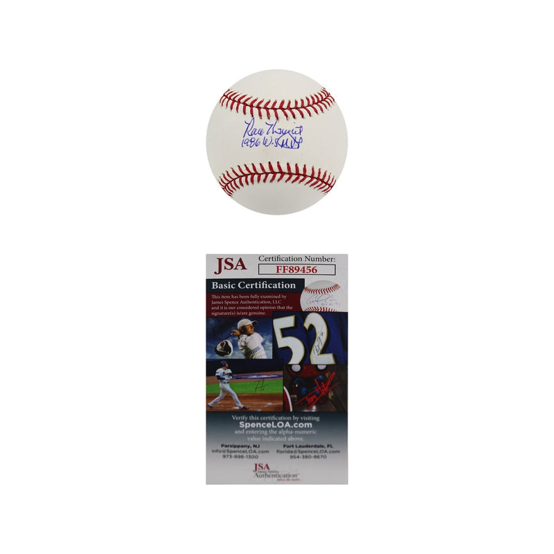 Ray Knight New York Mets Autographed MLB Baseball with 1986 WS MVP Inscription (JSA Auth)