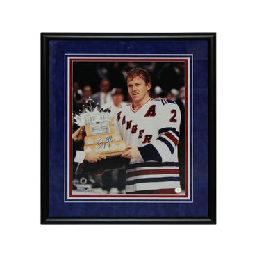 Brian Leetch New York Rangers Autographed 1994 Conn Smythe 16x20 Framed Photo