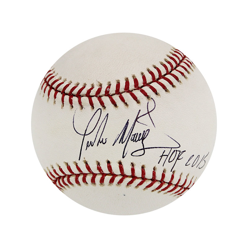 Pedro Martinez Boston Red Sox Autographed MLB Baseball with HOF 2015 Inscription (JSA Authentication)