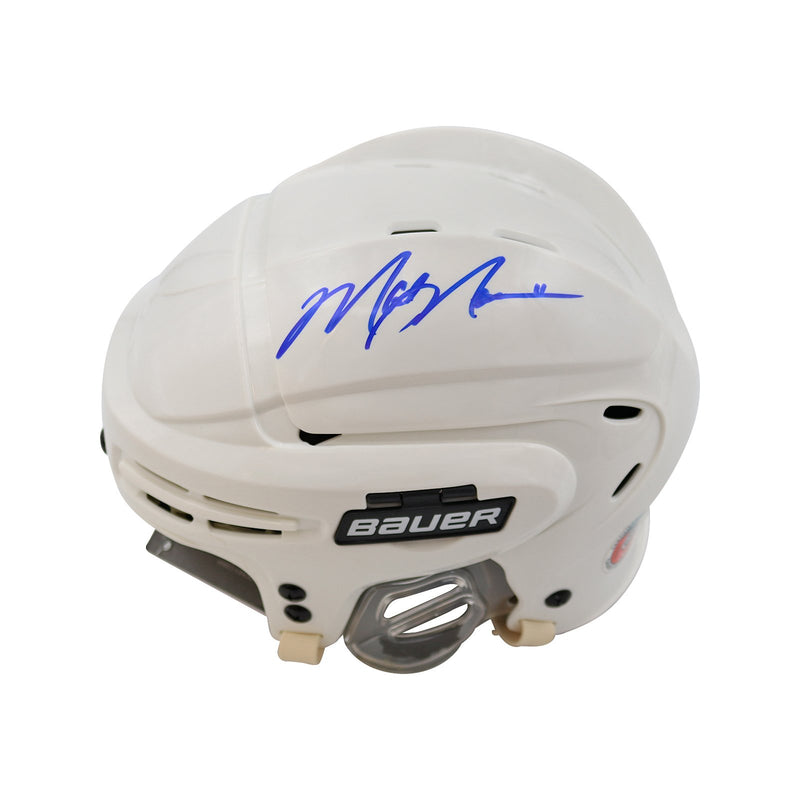 Mark Messier New York Rangers Autographed White Bauer Hockey Helmet (CX Auth) (Pre-Sale)