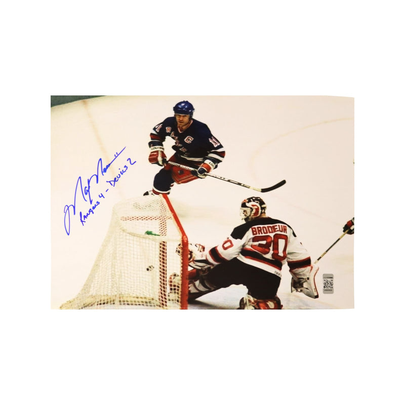 Mark Messier New York Rangers Autographed and Inscribed 1994 Gm 6 East. Conf. Finals 8x10 Photo (CX)