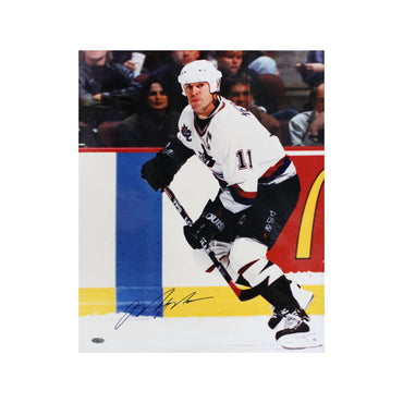 Mark Messier New York Rangers Autographed Vancouver Skating 16x20 Photo