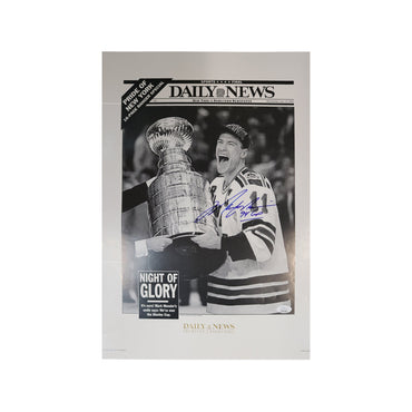 Mark Messier New York Rangers Autographed Daily News Cover with 94 Cup Inscription (JSA Authentication)